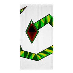 Decorative Snake Shower Curtain 36  x 72  (Stall)