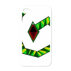 Decorative Snake Apple Iphone 4 Case (white)