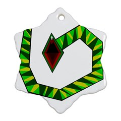 Decorative Snake Snowflake Ornament (2-Side)
