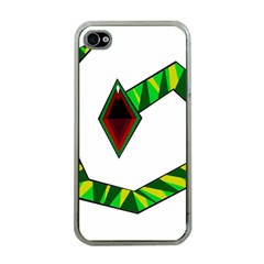 Decorative Snake Apple iPhone 4 Case (Clear)