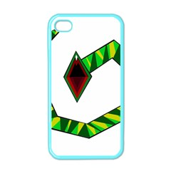 Decorative Snake Apple Iphone 4 Case (color)