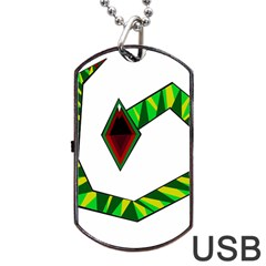 Decorative Snake Dog Tag USB Flash (Two Sides)