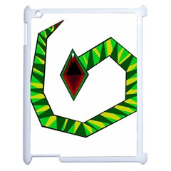 Decorative Snake Apple iPad 2 Case (White)