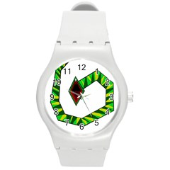 Decorative Snake Round Plastic Sport Watch (m)