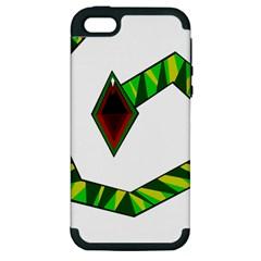 Decorative Snake Apple iPhone 5 Hardshell Case (PC+Silicone)