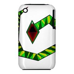 Decorative Snake Apple Iphone 3g/3gs Hardshell Case (pc+silicone)