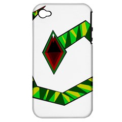 Decorative Snake Apple iPhone 4/4S Hardshell Case (PC+Silicone)
