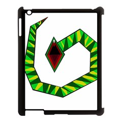 Decorative Snake Apple Ipad 3/4 Case (black)