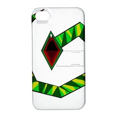 Decorative Snake Apple iPhone 4/4S Hardshell Case with Stand
