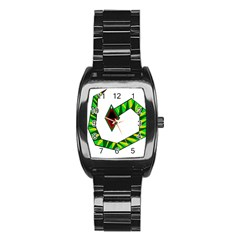 Decorative Snake Stainless Steel Barrel Watch