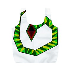 Decorative Snake Full Print Recycle Bags (m)