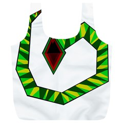 Decorative Snake Full Print Recycle Bags (l)