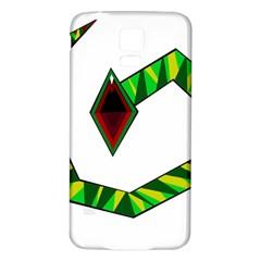 Decorative Snake Samsung Galaxy S5 Back Case (white)