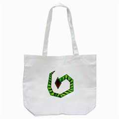 Decorative Snake Tote Bag (white)
