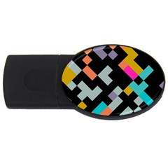 Connected shapes                                                                             USB Flash Drive Oval (2 GB)