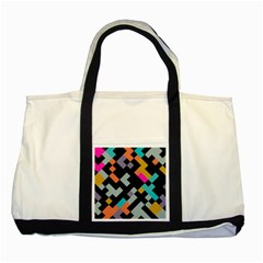 Connected shapes                                                                             			Two Tone Tote Bag