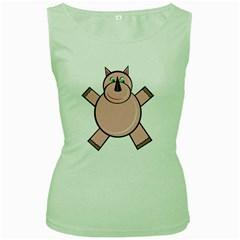 Pink Rhino Women s Green Tank Top