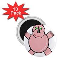 Pink Rhino 1.75  Magnets (10 pack)