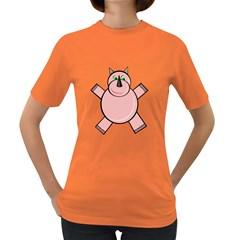 Pink Rhino Women s Dark T-Shirt