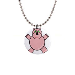Pink Rhino Button Necklaces