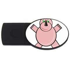 Pink Rhino USB Flash Drive Oval (4 GB)