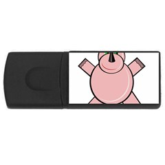 Pink Rhino USB Flash Drive Rectangular (4 GB)