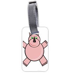 Pink Rhino Luggage Tags (Two Sides)