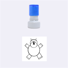 Pink Rhino Rubber Round Stamps (Small)