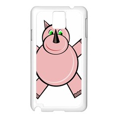 Pink Rhino Samsung Galaxy Note 3 N9005 Case (White)