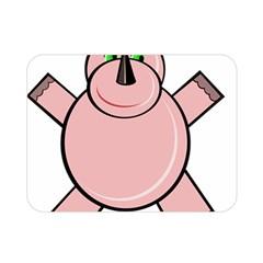 Pink Rhino Double Sided Flano Blanket (Mini)