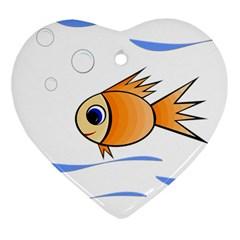 Cute Fish Ornament (Heart)