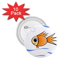 Cute Fish 1.75  Buttons (10 pack)