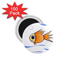 Cute Fish 1.75  Magnets (100 pack)