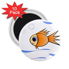 Cute Fish 2.25  Magnets (10 pack)
