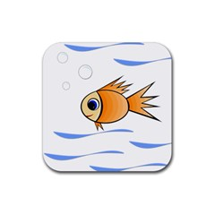 Cute Fish Rubber Square Coaster (4 pack)