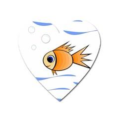 Cute Fish Heart Magnet