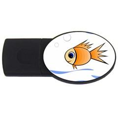 Cute Fish USB Flash Drive Oval (1 GB)