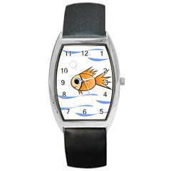 Cute Fish Barrel Style Metal Watch