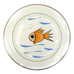 Cute Fish Porcelain Plates