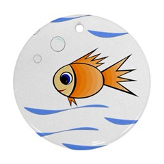 Cute Fish Round Ornament (Two Sides)