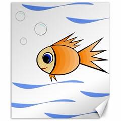 Cute Fish Canvas 20  x 24