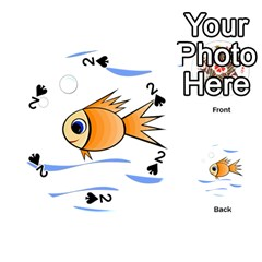 Cute Fish Playing Cards 54 (Round)