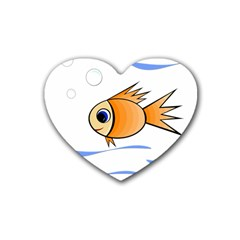 Cute Fish Rubber Coaster (Heart)