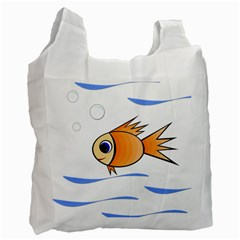 Cute Fish Recycle Bag (One Side)