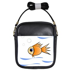 Cute Fish Girls Sling Bags