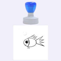 Cute Fish Rubber Round Stamps (Large)