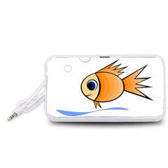 Cute Fish Portable Speaker (White)