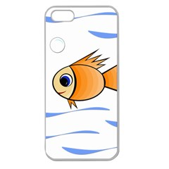 Cute Fish Apple Seamless iPhone 5 Case (Clear)