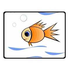 Cute Fish Double Sided Fleece Blanket (Small)