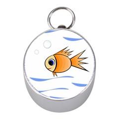 Cute Fish Mini Silver Compasses
